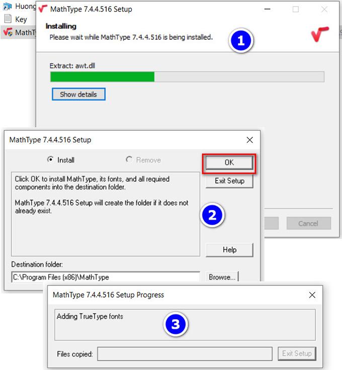 Hướng dẫn cài đặt phần mềm mathtype