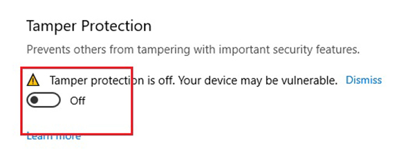 tắt windows security