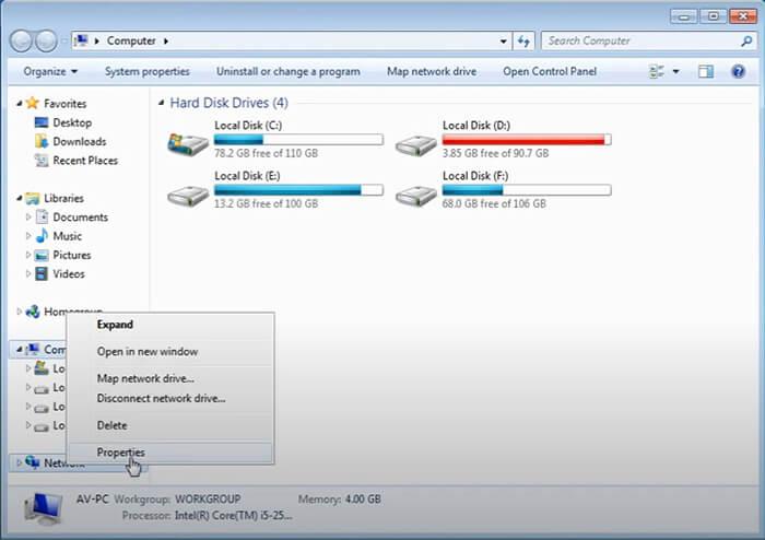 tắt windows security win 7