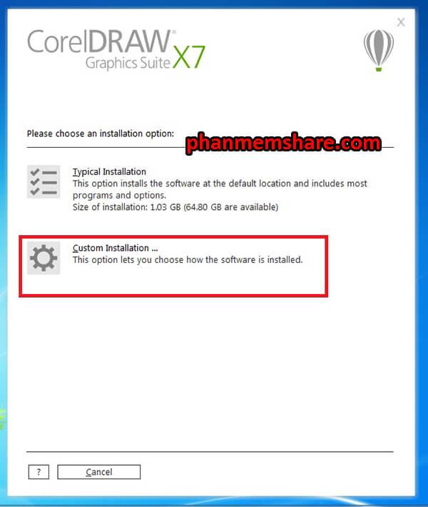 tiến hành cài đặt CorelDRAW X7