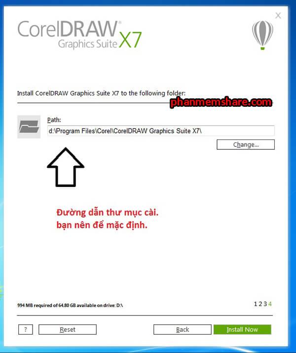 cài đặt CorelDRAW X7