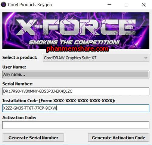 nhập key CorelDRAW X7