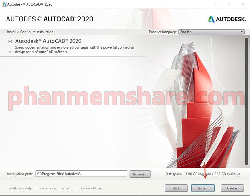 cài đặt AutoCad 2020