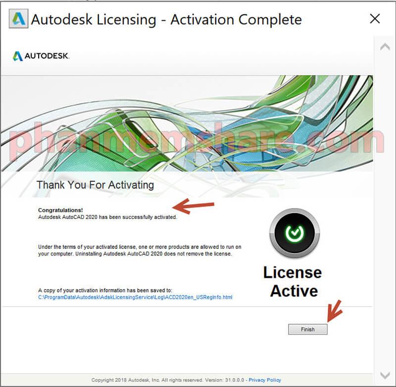 hướng dẫn active AutoCad 2020