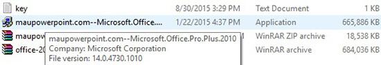 tiến hành cài đặt office 2010