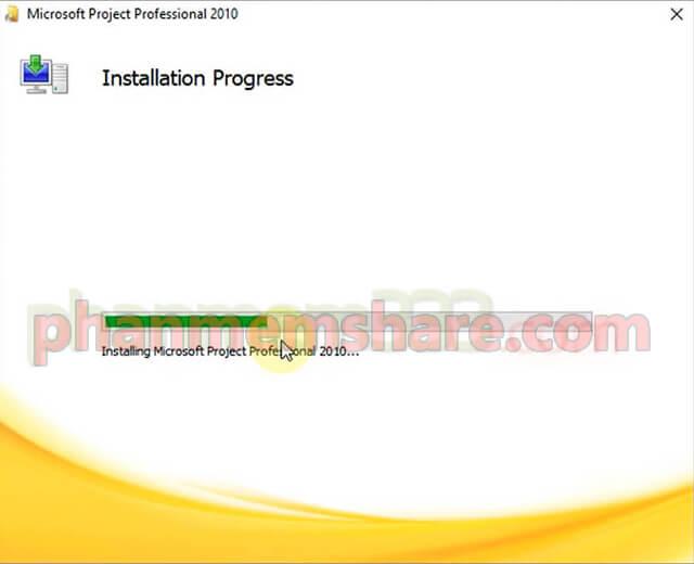 cài đặt Microsoft Project 2010