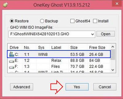 cài win bằng onekey ghost