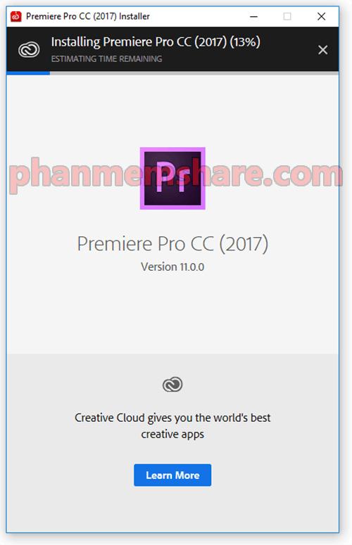 cài đặt Adobe Premiere Pro CC 2017