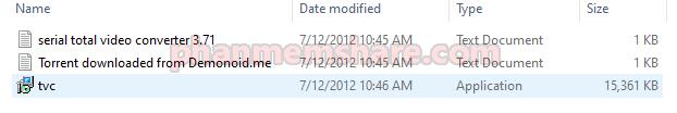 mở file cài đặt Total Video Converter 3.71