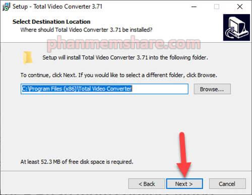 cài đặt Total Video Converter 3.71