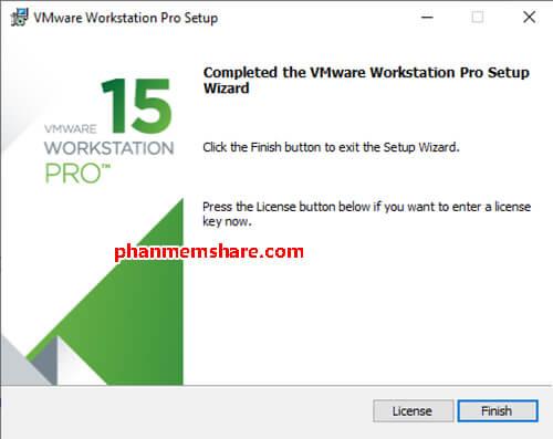 cài đặt VMware Workstation 15