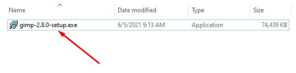 cài đặt phần mềm GIMP