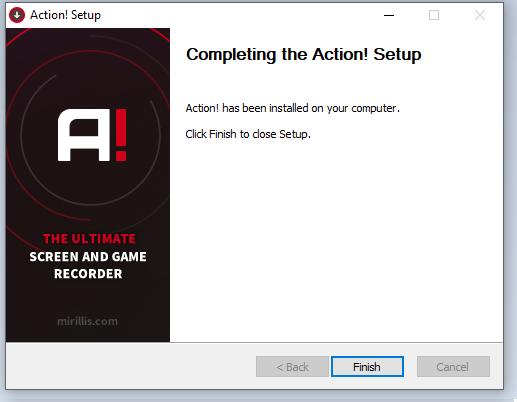 cài đặt phần mềm Action! 4.16