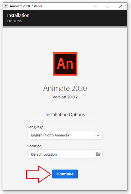 cài đặt phần mềm Adobe Animate CC 2020