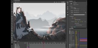 giao diện phần mềm Adobe Animate CC 2020
