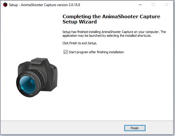 cài đặt phần mềm AnimaShooter Capture