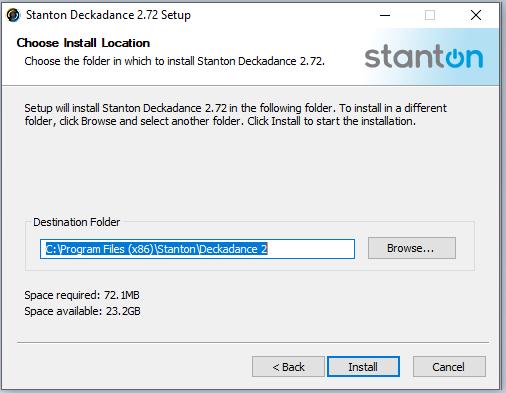 cài đặt phần mềm Deckadance 2.72