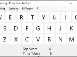 giao diện phần mềm Keyboard Training
