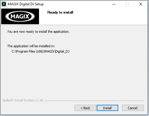 cài đặt phần mềm MAGIX Digital DJ 2
