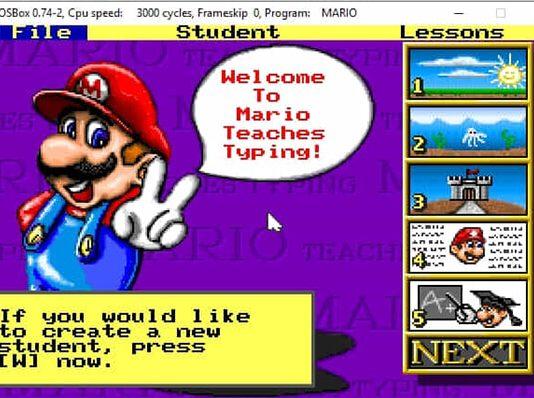 giao diện phần mềm luyện gõ 10 ngón Mario
