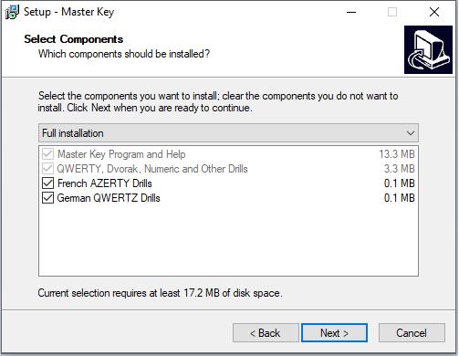 cài đặt phần mềm Master Key
