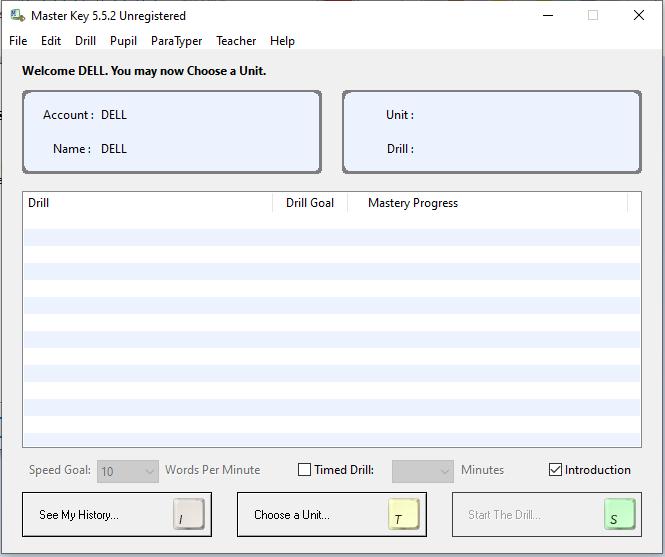giao diện phần mềm Master Key