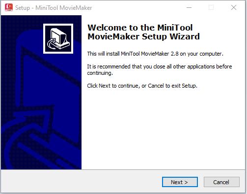 cài đặt phần mềm MiniTool MovieMaker