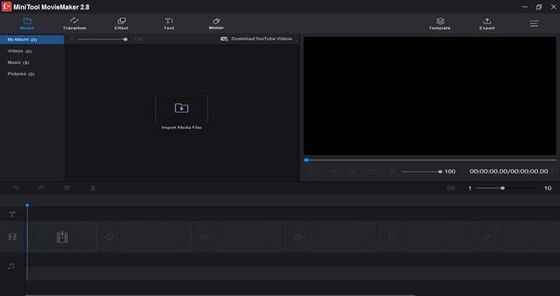giao diện phần mềm MiniTool MovieMaker