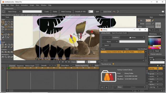 giao diện phần mềm Moho Pro 13