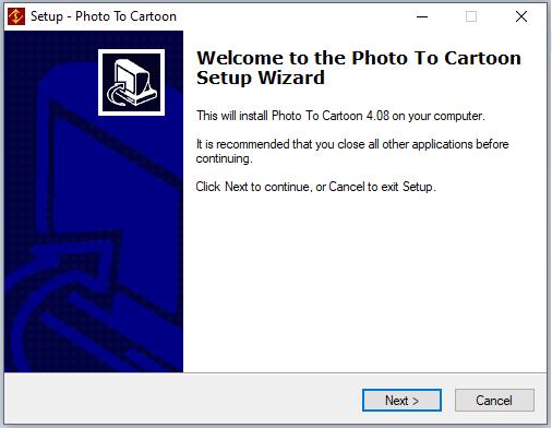 cài đặt phần mềm Photo to Cartoon