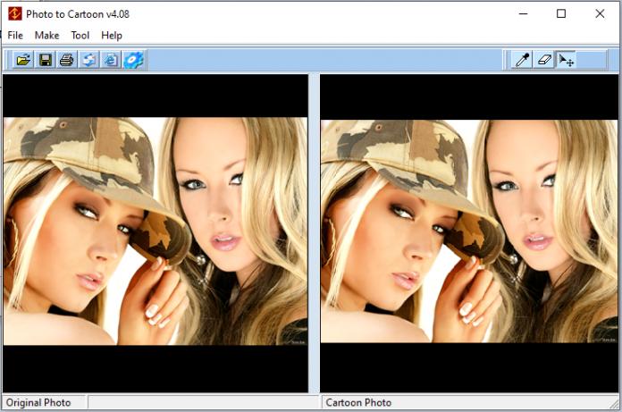 giao diện phần mềm Photo to Cartoon