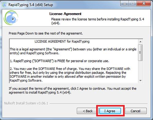 cài đặt phần mềm Rapid Typing Tutor
