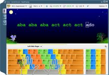 giao diện phần mềm Rapid Typing Tutor