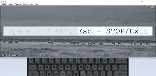 giao diện phần mềm Stamina Typing Tutor 2.5