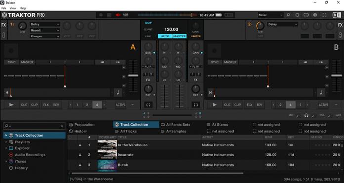giao diện phần mềm Traktor Pro 3.4.1.254