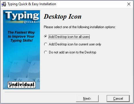 cài đặt phần mềm Typing Quick & Easy