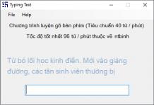 giao diện phần mềm Typing Test