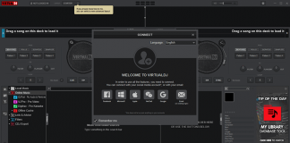 giao diện phần mềm Virtual DJ 2021