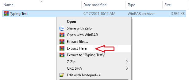giải nén phần mềm TypingMaster Pro 10
