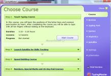 giao diện phần mềm TypingMaster Pro 10